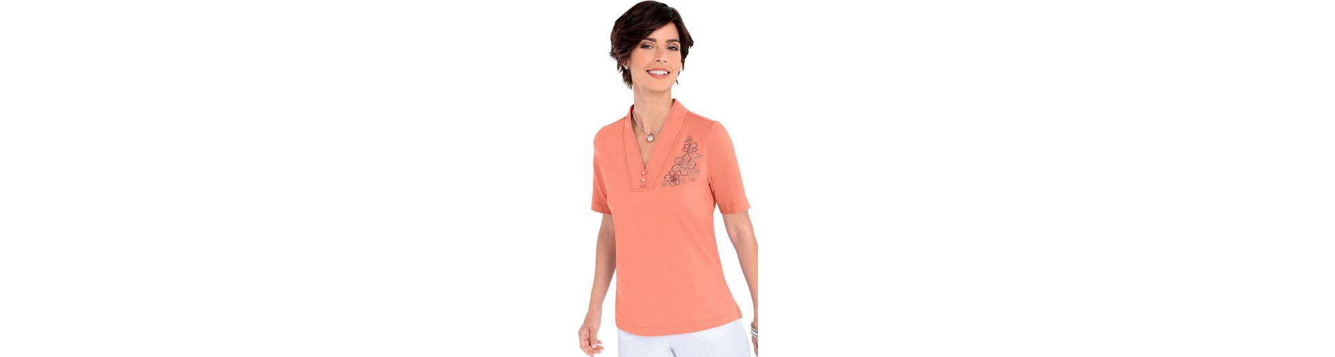 Shirt mit Blütenstickerei 2018 Neueste Online Verkauf Outlet-Store Outlet Angebote zOrfUkI4