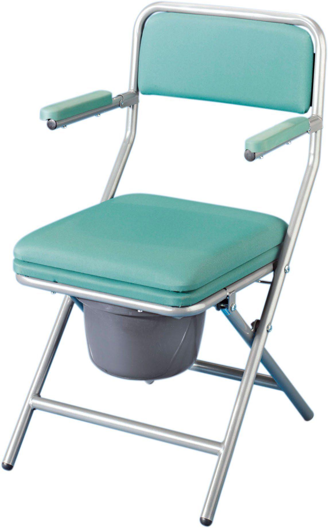 Toiletten-Stuhl mit Polsterauflage