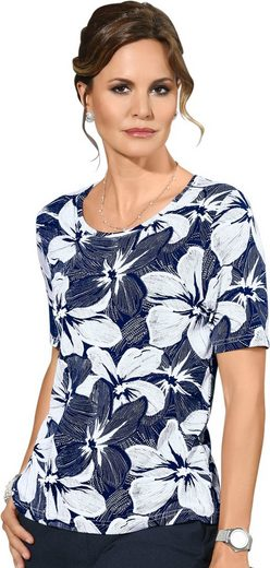 Lady Shirt im Blüten-Dessin bedruckt