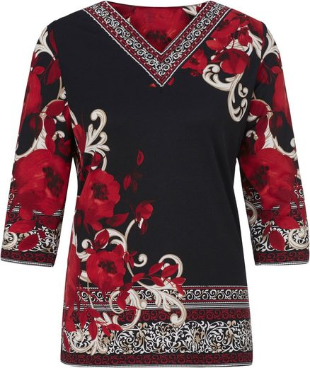 Lady Shirt Tunic At Clipping With Rhinestones