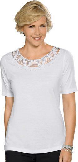 Collection L. Shirt mit aufwändiger, edel glänzender Kordelspitze