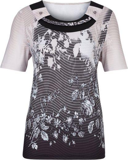 Lady Shirt im modernen Muster-Mix
