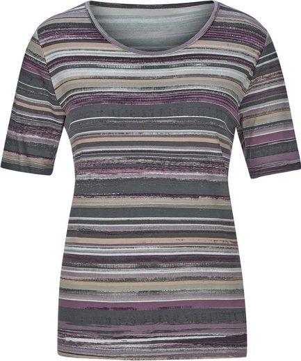 Collection L. Shirt im softweichen Material-Mix