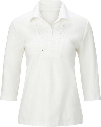 Shirt mit hochwertiger Spitze und Glitzersteinchen