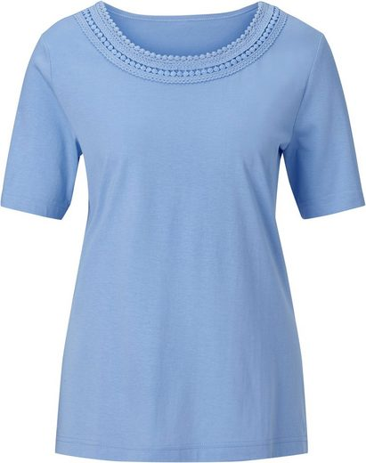 Classic Shirt mit Rundhals-Ausschnitt