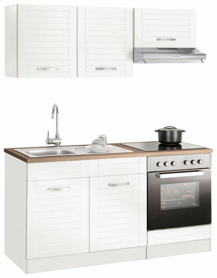 Miniküche mit Kühlschrank A++ 160 cm breit