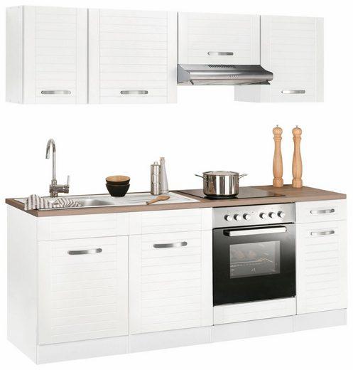 Küchenzeile »Falun«, mit E-Geräten, Breite 210 cm