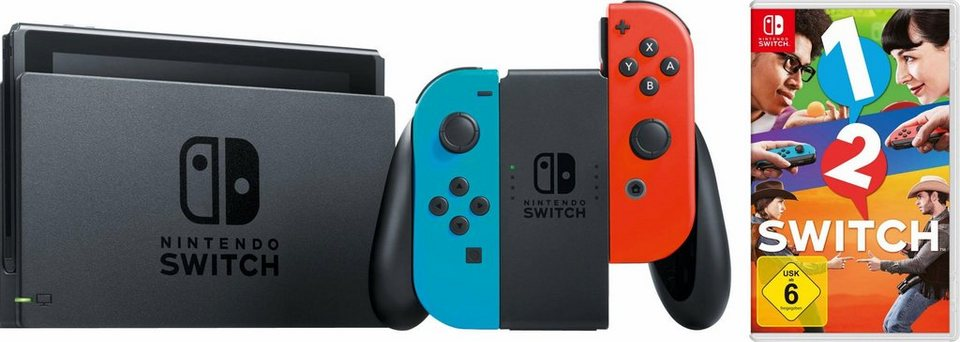 nintendo switch konsolen bundle inkl spiel 1 2 switch. Black Bedroom Furniture Sets. Home Design Ideas