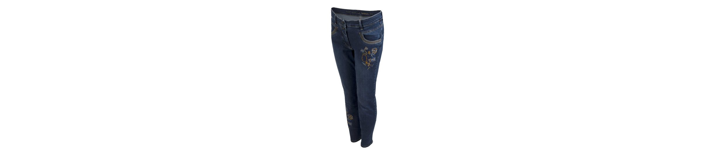 bianca 5-Pocket-Jeans SHAPE, schmale Jeans mit Stickerei