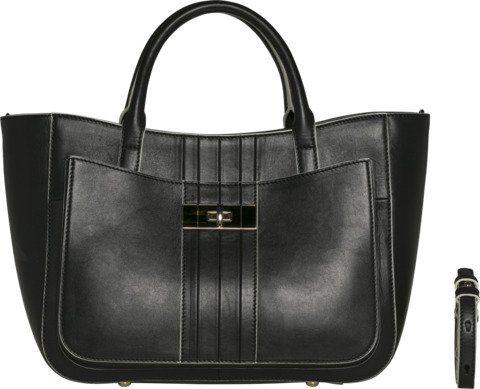 Tommy Hilfiger Tasche »CORPORATE LOCK LEATHER SATCHEL«