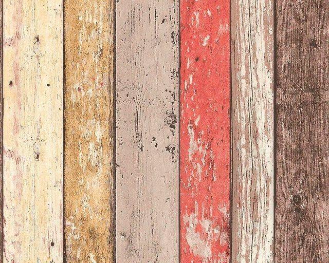 living walls Bordüre »pop.up Panel 3D«, Holz, Holzplanken in Vintage-Optik, günstig online kaufen