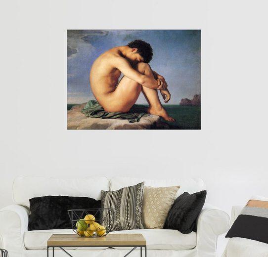 Posterlounge Wandbild - Hippolyte Flandrin »Junger Mann am Meer«