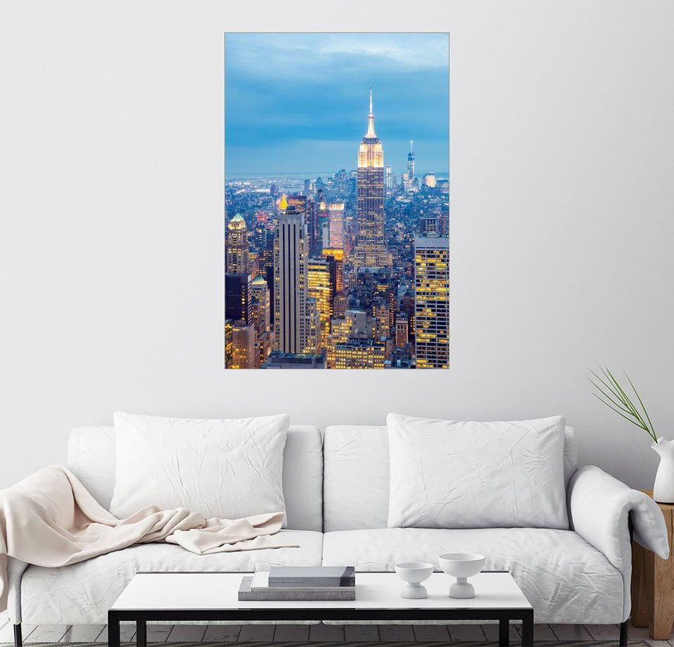 Posterlounge wandbild skyline von new york otto - Wandbild new york ...