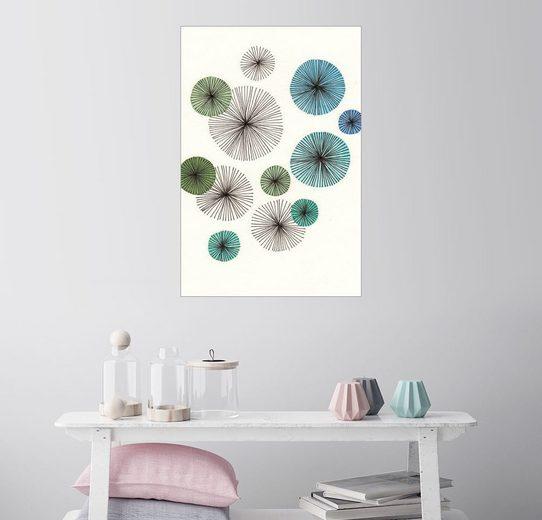 Posterlounge Wandbild - SMUCK »Abstract Flowers Blue«
