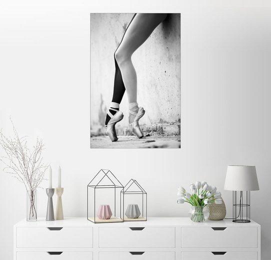 Posterlounge Wandbild »Ballett in schwarz weiß«