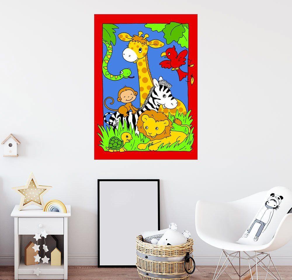 Posterlounge Wandbild - Fluffy Feelings »Willkommen im Dschungel«
