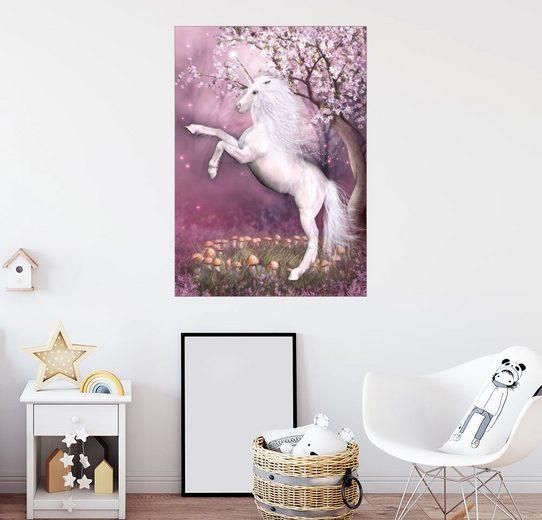 Posterlounge Wandbild - Dolphins DreamDesign »Einhorn Energie«