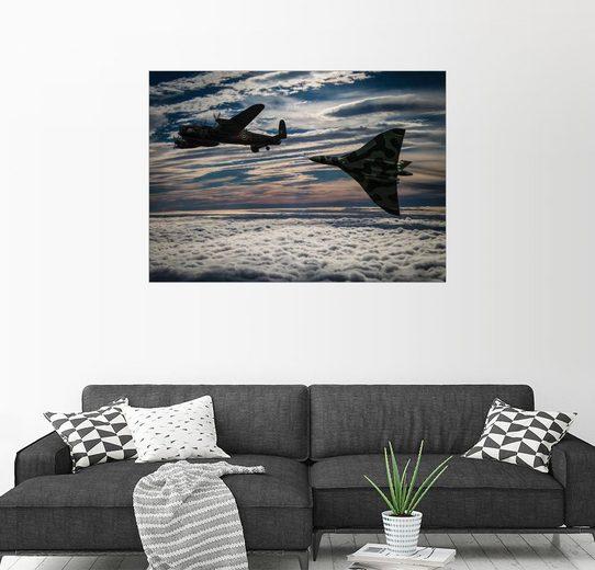 Posterlounge Wandbild - Paul Heasman »Vulcan und Lancaster«