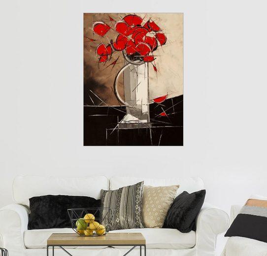 Posterlounge Wandbild - JIEL »Abstrakte Mohnblumen«