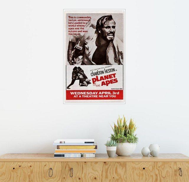 Posterlounge Wandbild »PLANET OF THE APES, top: Charlton Heston, 1968« | Dekoration > Bilder und Rahmen > Bilder | Bunt | Posterlounge