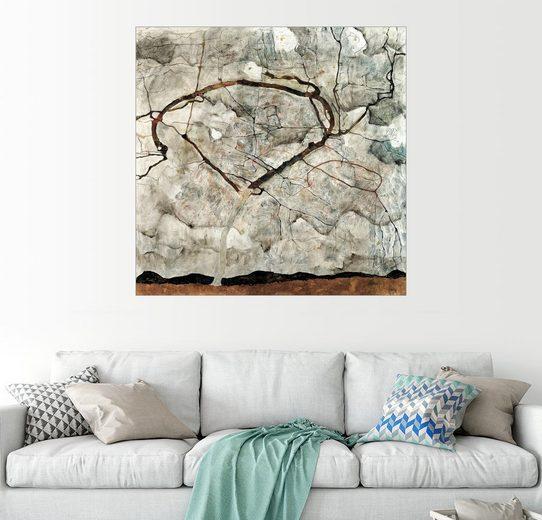 Posterlounge Wandbild - Egon Schiele »Herbstbaum in bewegter Luft«