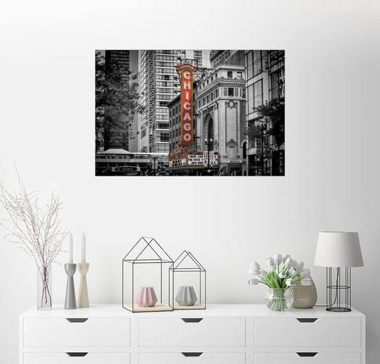 Posterlounge Wandbild - Melanie Viola »CHICAGO State Street«