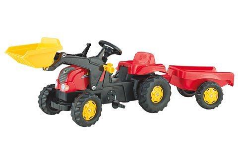 rolly toys® Trettraktor mit Frontlader und Anhänger »rollyKid-X« in schwarz-rot-gelb