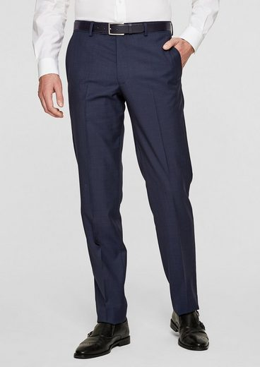 S.oliver Black Label Padua Regular: Schurwoll-hose