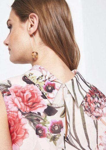 COMMA Zartes Freizeitkleid mit Floral-Allovermuster
