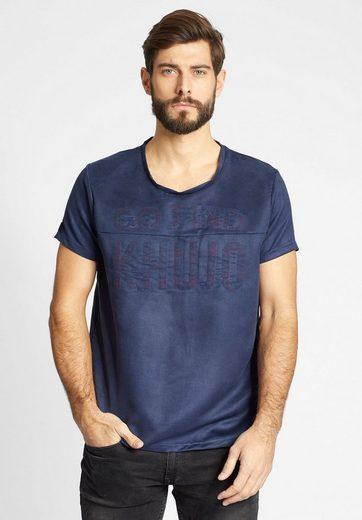 khujo T-Shirt TOLED, in Veloursleder-Optik