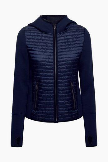 ESPRIT Kapuzen-Jacke aus sportivem Material-Mix