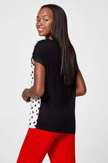 ESPRIT COLLECTION Leichtes Blusen-Shirt mit Kirschen-Print