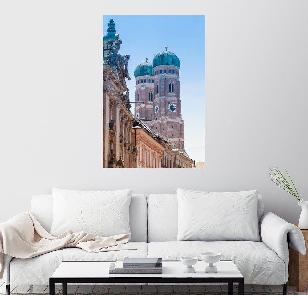 Posterlounge Wandbild »Die Frauenkirche in München« | Dekoration > Bilder und Rahmen > Bilder | Holz | Posterlounge