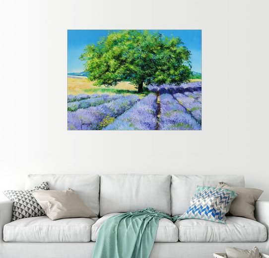 Posterlounge Wandbild - Jean-Marc Janiaczyk »Der Baum und der Lavendel«