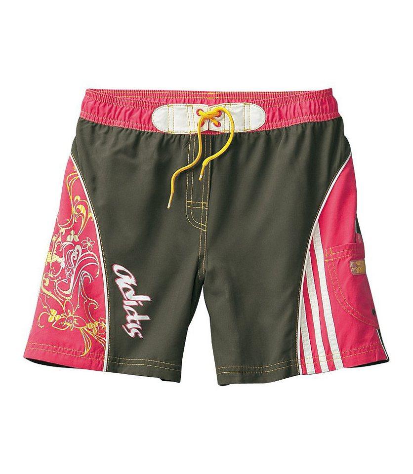 Strandshorts, Adidas in oliv pink