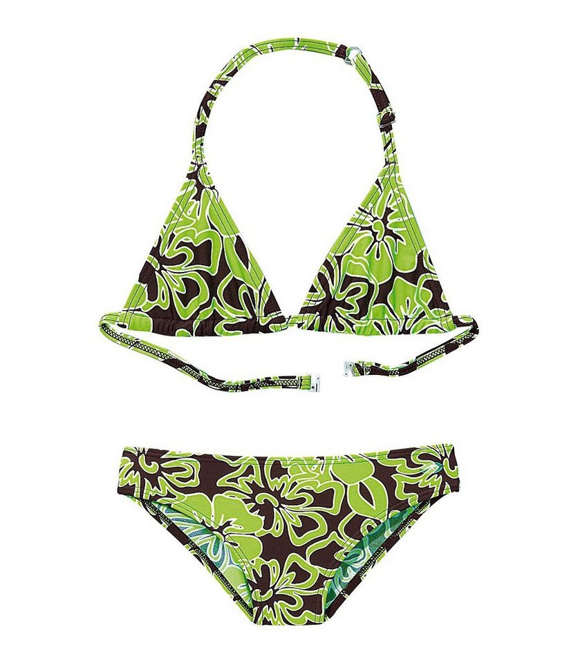 Triangel-Bikini, KangaROOS in braun-grün