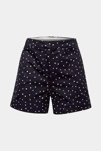 ESPRIT Lockere Chino-Shorts mit Punkte-Print