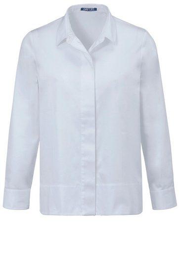 DAY.LIKE Klassische Bluse mit verdeckter Knopfleiste, Schlitze