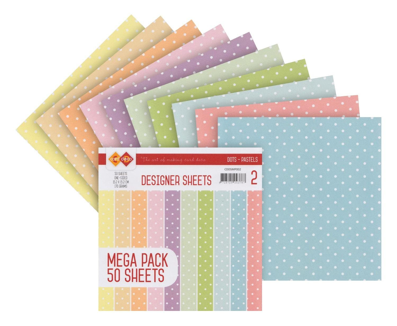 """Papier-Set """"Pünktchen Pastell"""" 50 Blatt"""