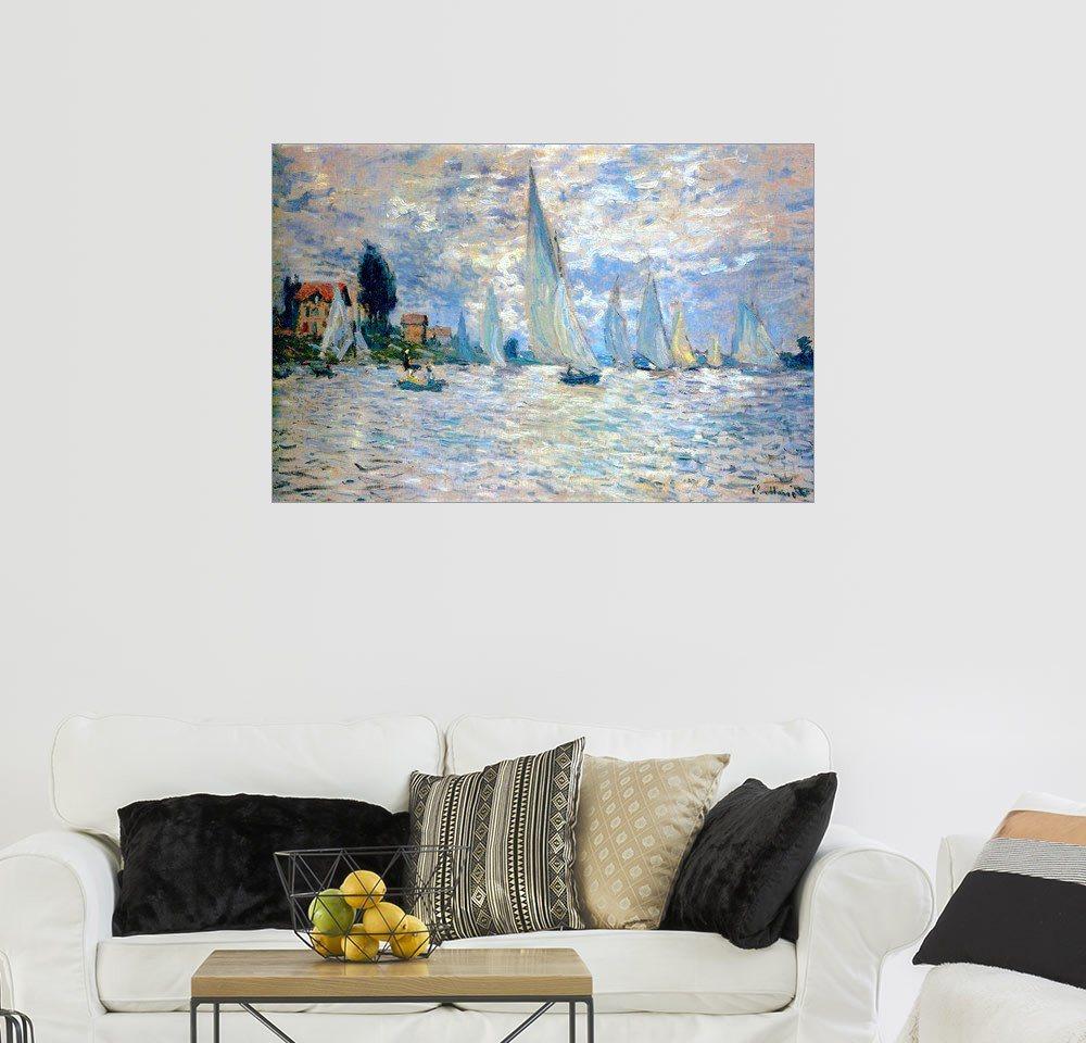 Posterlounge Wandbild - Claude Monet »Regatta in Argenteuil« | Dekoration > Bilder und Rahmen > Bilder | Holz | Posterlounge