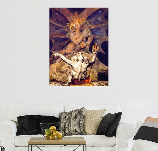 Posterlounge Wandbild - William Blake »Die Zahl des Tieres ist 666«