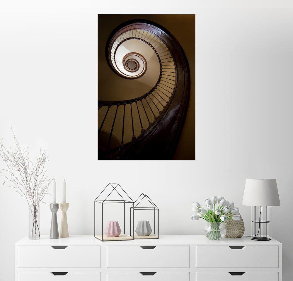 Posterlounge Wandbild - Jaroslaw Blaminsky »Elegante Wendeltreppe«