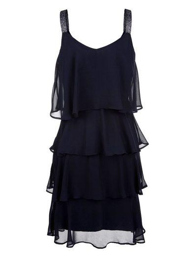 Alba Moda Kleid in mehreren Lagen gearbeitet