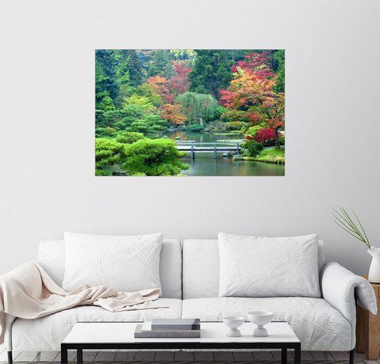 Posterlounge Wandbild - Janell Davidson »Japanischer Garten in Seattle«