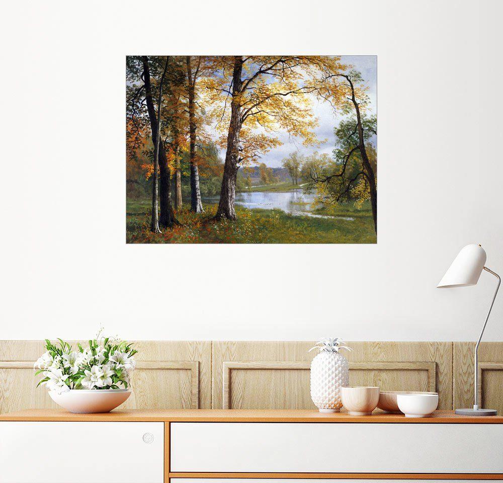 Posterlounge Wandbild - Albert Bierstadt »Ein ruhiger See«