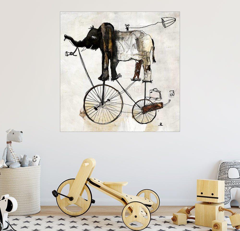 Posterlounge Wandbild - Christin Lamade »Elefant« | Dekoration > Bilder und Rahmen > Bilder | Holz | Posterlounge