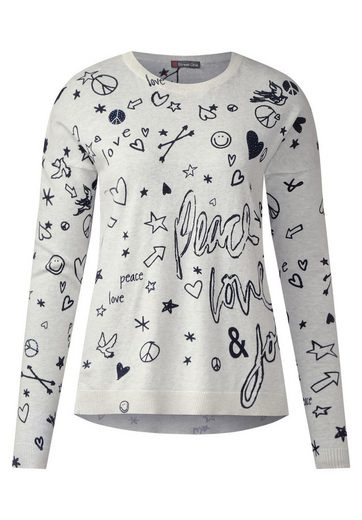 Street One Allover Grafik-Print Pulli