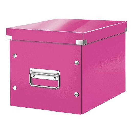 LEITZ Aufbewahrungsbox »Click & Store Cube«, passend für Standard-Bücherregale