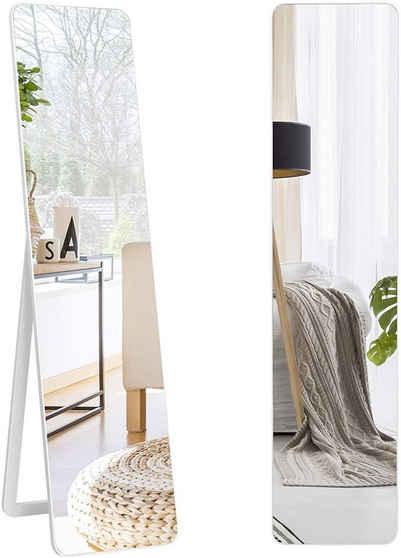 COSTWAY Ganzkörperspiegel »Standspiegel Wandspiegel Ankleidespiegel Garderobenspiegel«, mit Holzrahmen