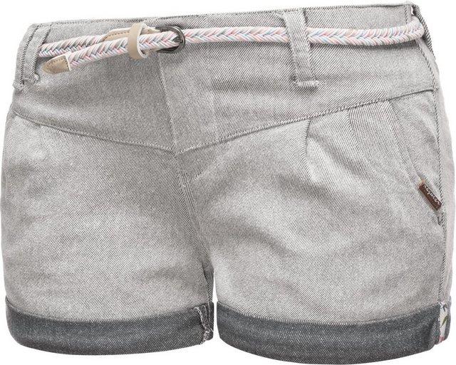 Hosen - Ragwear Chinoshorts »Heaven A« kurze Hose mit hochwertigem Flechtgürtel › weiß  - Onlineshop OTTO